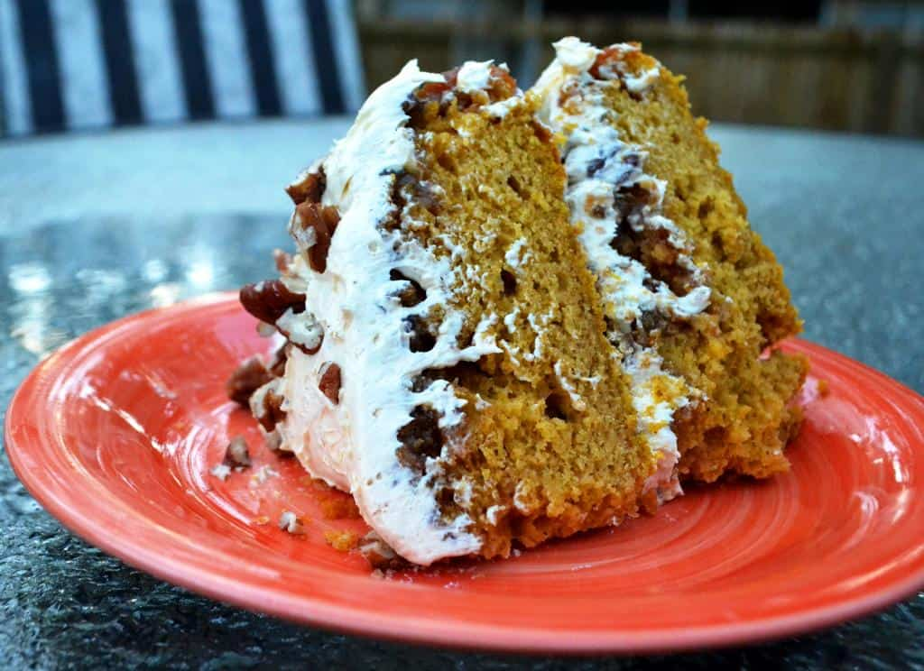 Pumpkin Praline Spice Cake