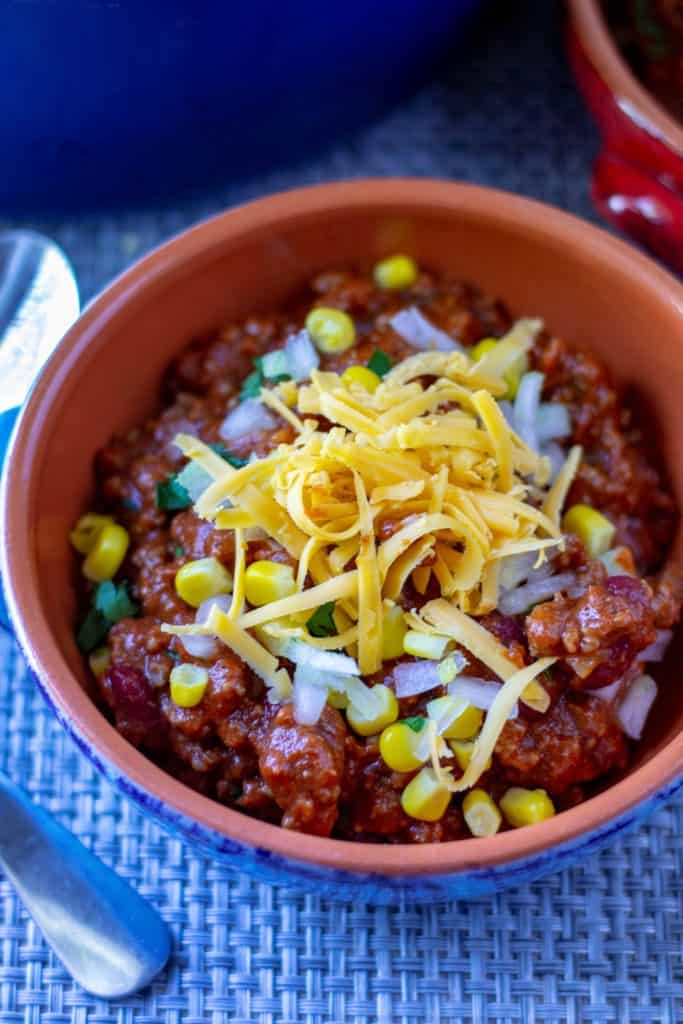 Easy Homemade Chili with beans is a classic chili recipe made with beef, beans and
