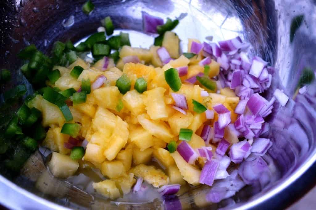 Diablo Bang Bang Shrimp Wraps with Pineapple Mango Salsa