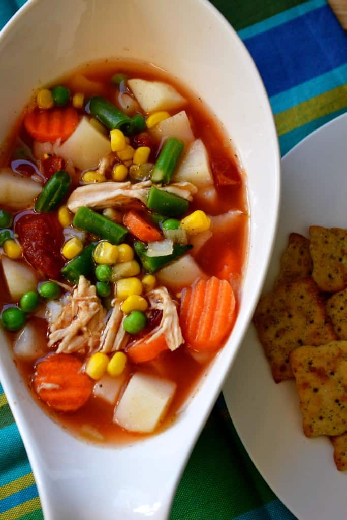 Springtime vegetable soup springtime vegetable soup is a delicious blend of sweet vegetables chicken