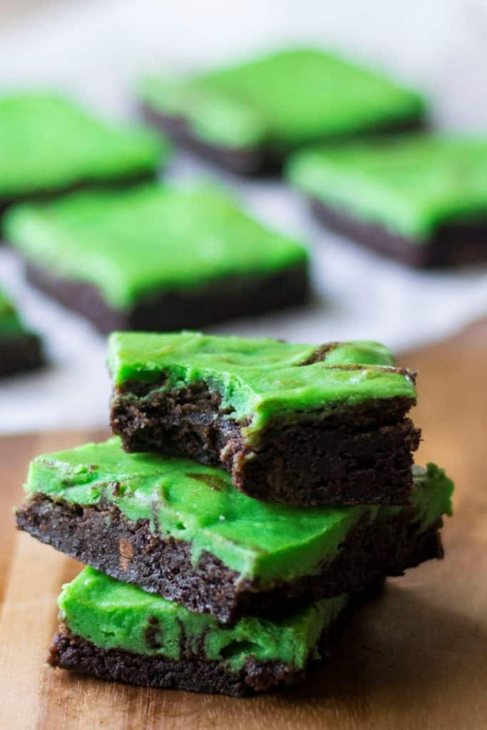 Green Cheesecake Brownie Bars