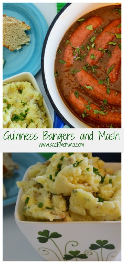 Classic pub grub at it's finest, Bangers and Mash is a traditional Irish dish of pork sausages and mashed potatoes. Robust and delicious!