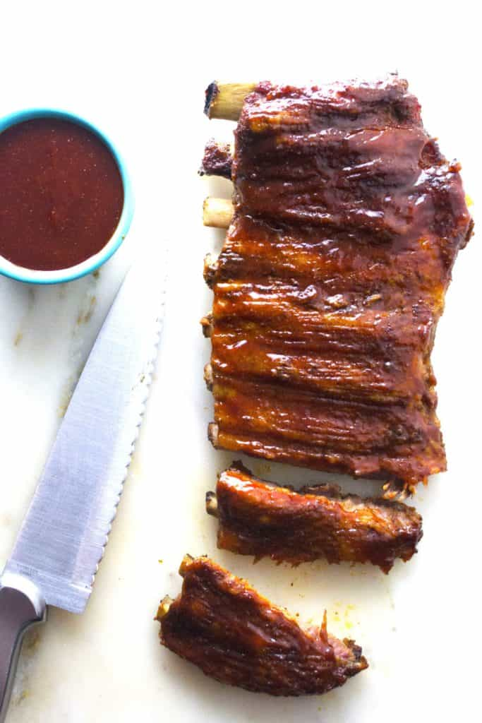 Asian BBQ Ribs cutting board