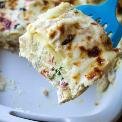 White Garlic Lasagna A Wicked Whisk