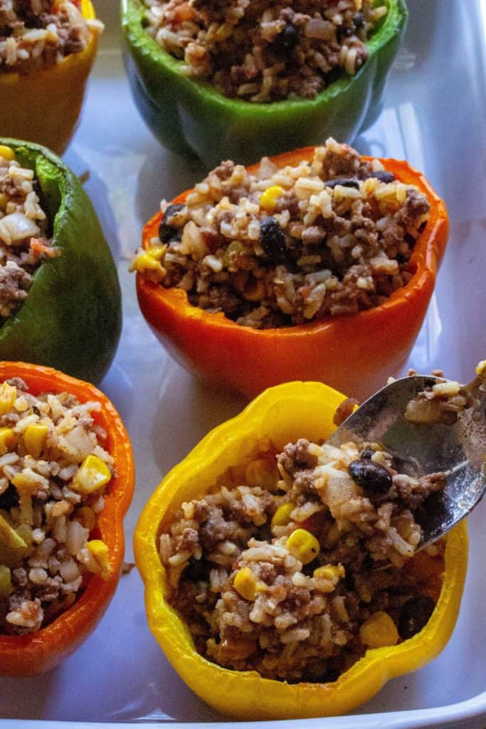Mexican Stuffed Peppers filled