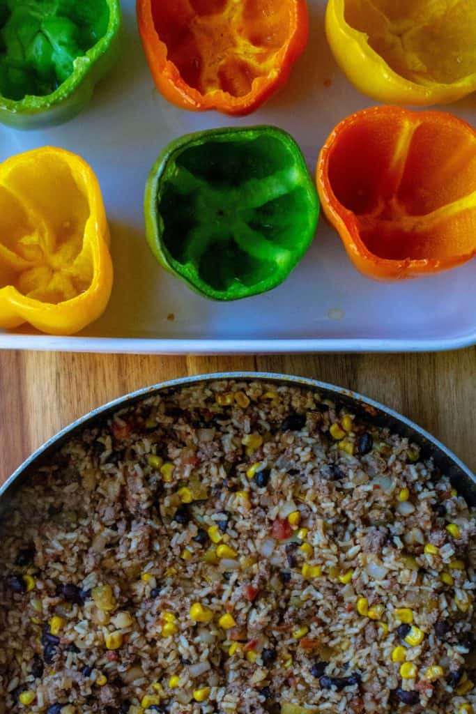 Mexican Stuffed Peppers ingredients