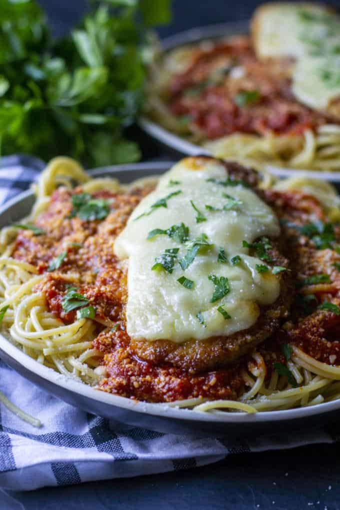 Baked Crispy Chicken Parmesan A Wicked Whisk