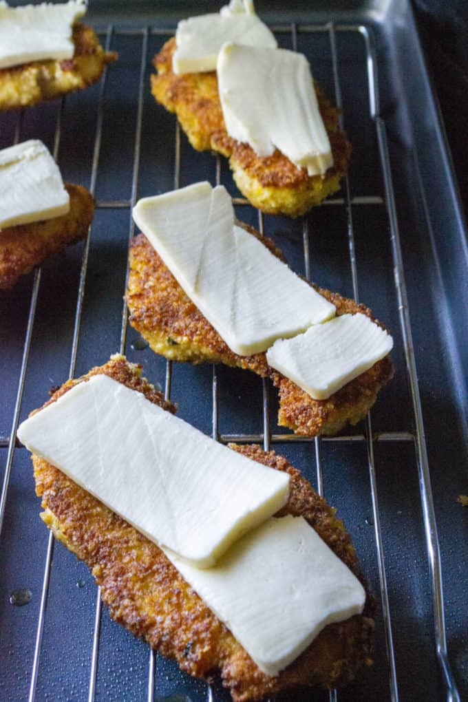 chicken parmesan cutlets covered in cheese