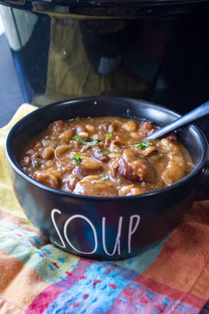 bean soup in a bowl