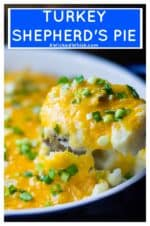 Turkey Shepherd's Pieis an easy, delicious quick meal that you can serve to your family and know that they will love it. Made with ground turkey and no condensed soup, thisTurkey Shepherd's Pie will be your new favorite easy dinner idea. #shepherdspie #turkeyshepherdspie #lightenedupcomfortfood #lightenedcomfortfood #shepardspie #turkeyshepardspie #easyshepardspie #casserole #turkeycasserole #comfortfood #easycomfortfood #shepherdspienocondensedsoup #shepardspienocondensedsoup #cottagepie