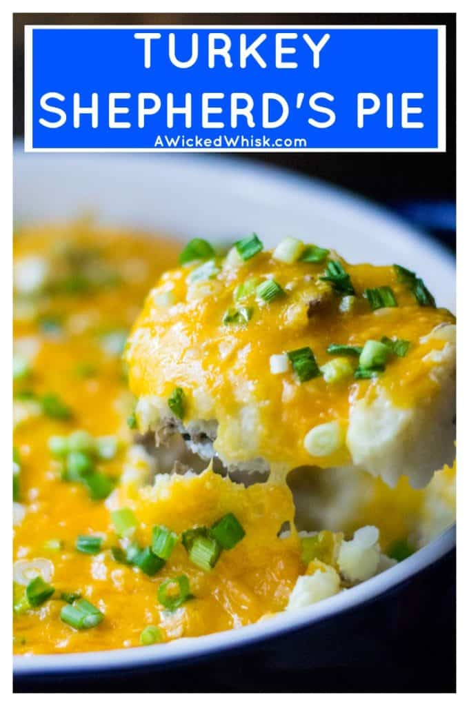 Turkey Shepherd's Pie is an easy, delicious quick meal that you can serve to your family and know that they will love it. Made with ground turkey and no condensed soup, this Turkey Shepherd's Pie will be your new favorite easy dinner idea. #shepherdspie #turkeyshepherdspie #lightenedupcomfortfood #lightenedcomfortfood #shepardspie #turkeyshepardspie #easyshepardspie #casserole #turkeycasserole #comfortfood #easycomfortfood #shepherdspienocondensedsoup #shepardspienocondensedsoup #cottagepie