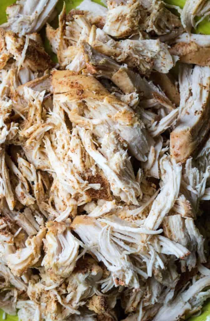 Slow Cooker BurritoBowl shredded chicken