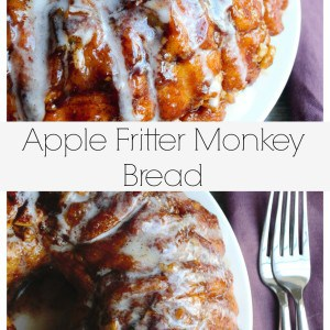 Apple Fritter Monkey Bread | This Apple Fritter Monkey Bread is tender, crunchy and gently layered with apples, walnuts and cinnamon. Perfection! | Pack Momma | https://www.awickedwhisk.com