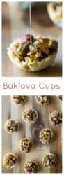 Baklava Cups | Baklava Cups are your new best friend this holiday season. Baklava without all of the mess but with all of the sweet buttery flavor.. and super cute too!! #baklavacups #baklava #christmascookies #christmasfood #christmascookies #bitesizedbaklava #baklavabites #baklavaeasy #baklavamini #baklavacupsrecipe #baklavacupsphyllodough #christmasbaklava #christmasbites #christmasdesserteasy #easybaklava