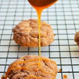 Pumpkin Snickerdoodles | These Pumpkin Snickerdoodles are sweet and perfectly soft baked.. this perfect recipe will leave your mouth watering for more! | Pack Momma | https://www.awickedwhisk.com