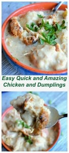 The Best Chicken and Dumplings | The Best Chicken and Dumplings is a hearty blend of roasted chicken and plump dumplings in a perfectly seasoned creamy soup. | Pack Momma | https://www.awickedwhisk.com