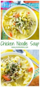 Easy Homemade Chicken Noodle Soup | This Easy Homemade Chicken Noodle Soup is definitely not the can of soup from your childhood. Hearty, creamy and nutritious, this soup will make being a grown up worth it! | Pack Momma | https://www.awickedwhisk.com
