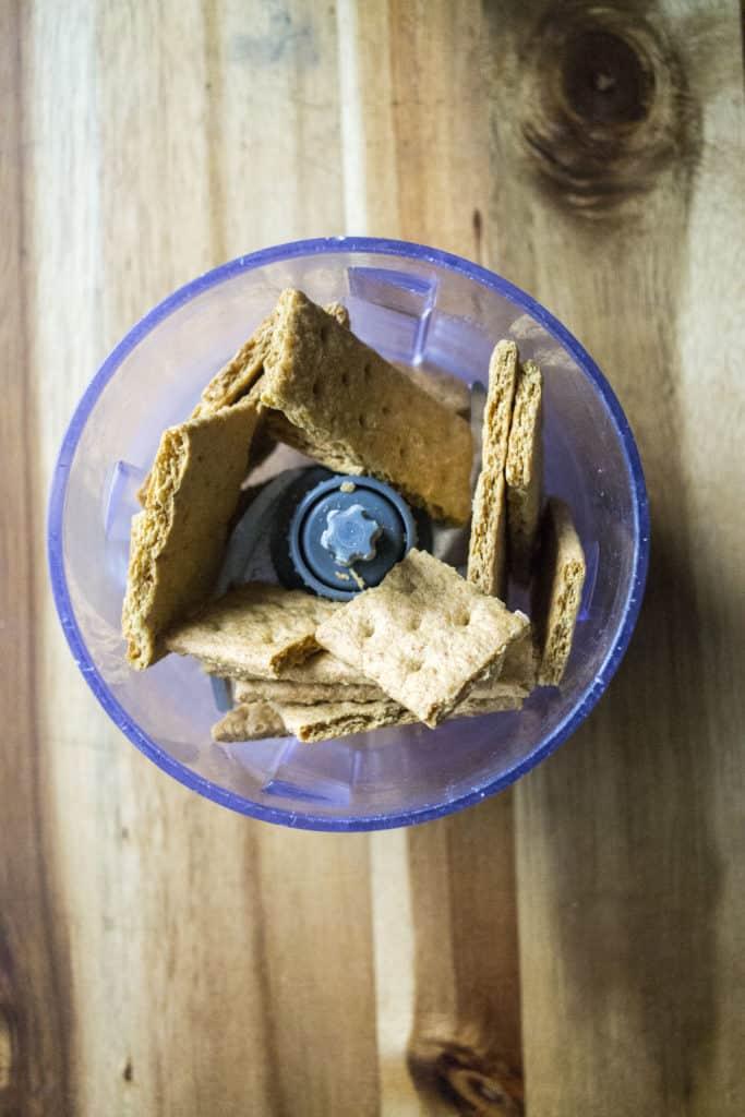 Homemade Reese's Bars graham cracker crumbs