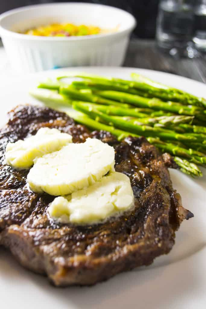 Oven Grilled Pan Seared Steak with Blue Cheese Compound Butter   Oven Grilled Steak with Blue Cheese Compound Butter is perfectly pan-seared steak topped with decadent blue cheese compound butter .. the perfect steak dinner made right in your own kitchen!!   Pack Momma   https://www.awickedwhisk.com