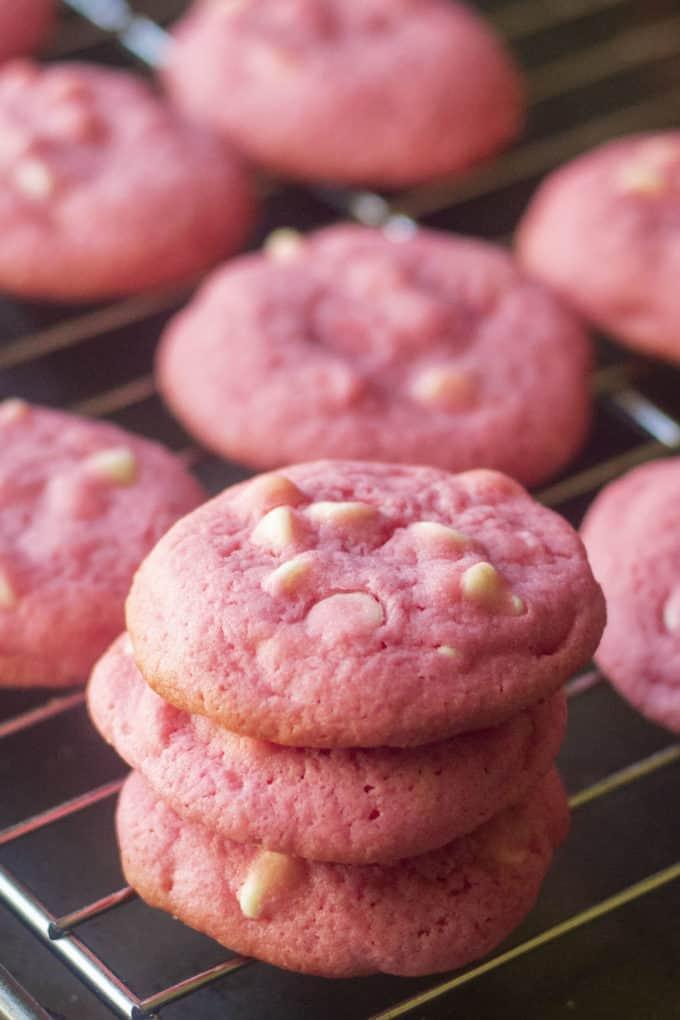 baked pink sugar cookies