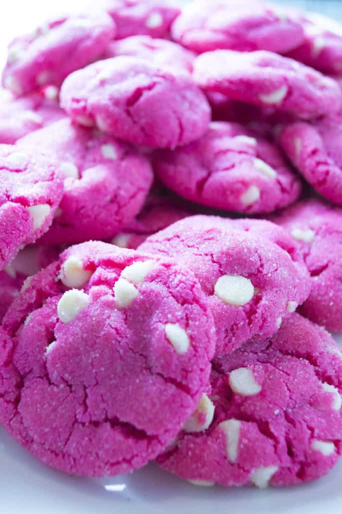 Pink Sugar Cookies | These Pink Sugar Cookies are crisp on the outside and soft and sweet on the inside.. the perfect Valentine's Day treat!! | Pack Momma | https://www.awickedwhisk.com
