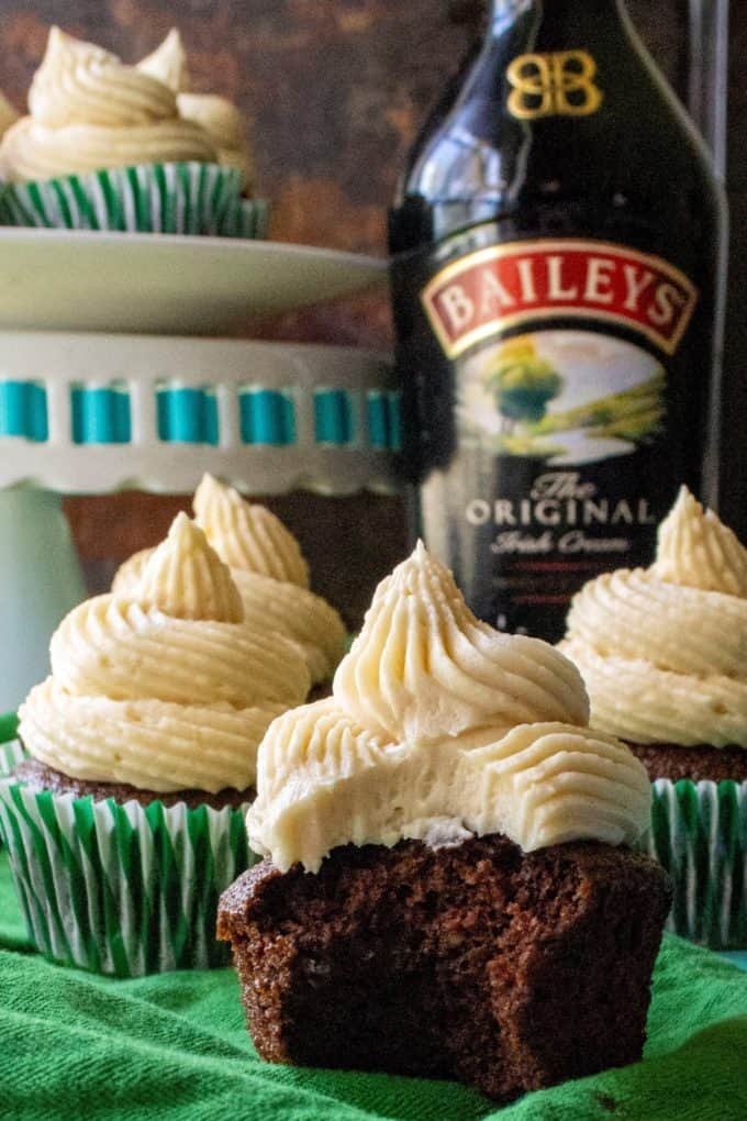Baileys St. Patrick's Day Cupcakes and Baileys