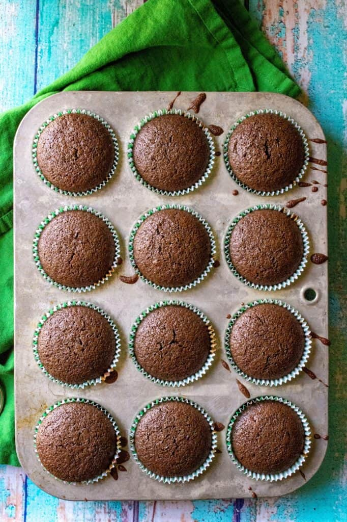 Baileys St. Patrick's Day Cupcakes cooked