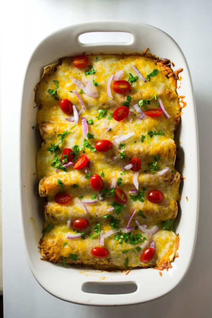 Slow Cooker BBQ Beef Enchiladas | These Slow Cooker BBQ Beef Enchiladas are hearty and packed full of delicious BBQ flavor. An amazing new twist on a family favorite!! | Pack Momma| https://www.awickedwhisk.com