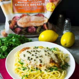 Easy 30 Minute Chicken Piccata | Easy 30 Minute Chicken Piccata is the perfect chicken dinner to spoil your family with on busy weeknights. Quick, delicious and on the table in 30 minutes! | Pack Momma | https://www.awickedwhisk.com