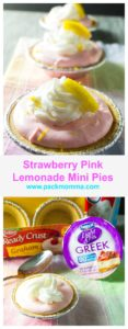 Strawberry Pink Lemonade Mini Pies are easy and bursting with fresh pops of lemon flavor. These are the perfect dessert to celebrate the springtime season. #EffortlessPies #CollectiveBias #Ad