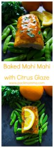 Baked Mahi Mahi with Citrus Glaze | This Baked Mahi Mahi with Citrus Glaze is healthy, nutritious and delicious! | A Wicked Whisk | https://www.awickedwhisk.com