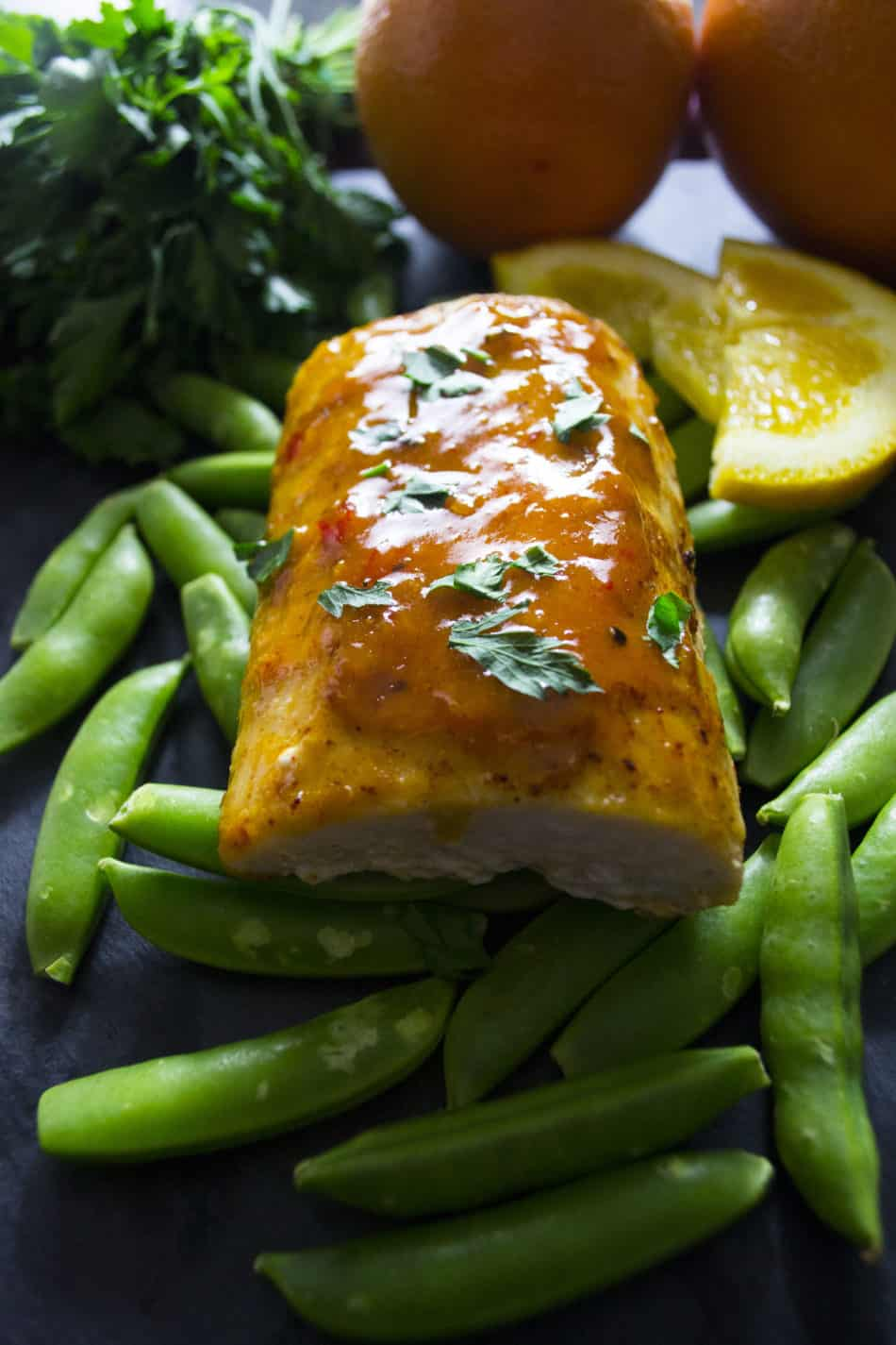 Baked Mahi Mahi with Citrus Glaze | This Baked Mahi Mahi with Citrus Glaze is healthy, nutritious and delicious! | Pack Momma | https://www.awickedwhisk.com