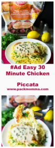 Easy 30 Minute Chicken Piccata | Easy 30 Minute Chicken Piccata is the perfect chicken dinner to spoil your family with on busy weeknights. Quick, delicious and on the table in 30 minutes! | A Wicked Whisk | https://www.awickedwhisk.com