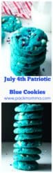 July 4th Patriotic Blue Cookies | Celebrate your red, white and blue with these festive (... and ADORABLE) July 4th Patriotic Blue Cookies! | A Wicked Whisk | https://www.awickedwhisk.com