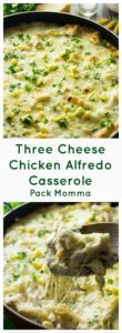 Three Cheese Chicken Alfredo Casserole | Three Cheese Chicken Alfredo Casserole is rich, creamy and the perfect comfort food. Easy to make, this is the ultimate dinner for cheese lovers! \Three Cheese Chicken Alfredo Casserole is rich, creamy and the perfect comfort food. Easy to make, this is the ultimate dinner for cheese lovers!| A Wicked Whisk