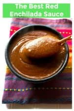 The Best Red Enchilada Sauce is so quick and easy to make and will blow the canned stuff right out of your pantry! Rich, thick, spicy and delicious, this Best Red Enchilada Sauce recipe will be the tastiest enchilada sauce you have ever had!  A Wicked Whisk   https://www.awickedwhisk.com #enchiladasauce #enchiladasaucehomemade #enchiladasauceeasy #redenchiladasauce #redchiladas #homemadeenchiladasauce #mexicansauce #mexicanfood #mexicanfoodrecipeeasy