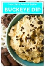Buckeye Dip is the perfect chocolate and peanut butter sweet treat to serve up at your next social gathering. Rich, sweet and creamy, this Buckeye Dip is the ultimate appetizer or dessert to indulge in. | A Wicked Whisk | https://www.awickedwhisk.com #buckeyedip #peantbutterdip #sweetdip #buckeyedipcoolwhip #buckeyedipcreamcheese #dessert #gamedayfood #gamedaydip