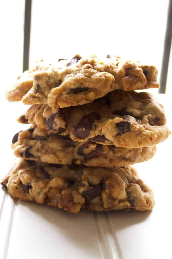 Chunky Monkey Cookies stacked