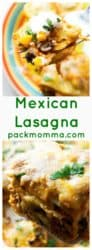 Mexican Lasagna | This Mexican Lasagna is spicy, flavorful and quick to put together. With rich Mexican flavor, tender chicken and melty cheese, this is sure to be your families new favorite dinner request! | A Wicked Whisk