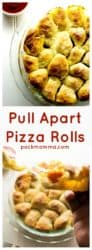 Pull Apart Pizza Rolls | These easy Pull Apart Pizza Rolls are the perfect Go-To to fulfill your pizza cravings. Fast, hot and delicious, they are ideal for snacking and sharing | A Wicked Whisk