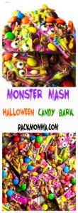 Monster Mash Halloween Candy Bark   This festive and fun no-bake Monster Mash Halloween Candy Bark is the perfect sweet treat to scare up some new friends this Halloween   A Wicked Whisk