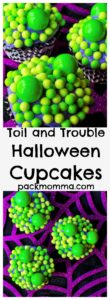 Toil and Trouble Halloween Cupcakes   Celebrate the Halloween season with these festive and fun Toil and Trouble Halloween Cupcakes. Perfect delicious fun for all ages!   A Wicked Whisk