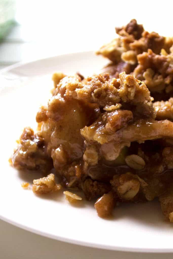 Easy Apple Pear Crisp on a plate
