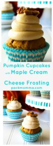 Pumpkin Cupcakes with Maple Cream Cheese Frosting | Super moist, super flavorful these Pumpkin Cupcakes with Maple Cream Cheese Frosting are decadent, indulgent perfection!… with pecans on top! | A Wicked Whisk | https://www.awickedwhisk.com