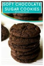 Soft Chocolate Sugar Cookies are rich with chocolate flavor and just the right amount of sweetness all packed in a perfect soft baked sugar cookie. Rich, chewy and enhanced with real coffee, theseSoft Chocolate Sugar Cookies are the perfect chocolate treat. | A Wicked Whisk | https://www.awickedwhisk.com #softsugarcookie #chewysugarcookie #chocolatesugarcookie #softchocolatesugarcookie #softchocolatecookies