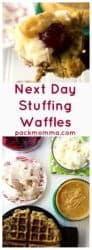 Next Day Stuffing Waffles | Next Day Stuffing Waffles are the most delicious way to gather your family together and free your refrigerator of all those holiday leftovers. | A Wicked Whisk | https://www.awickedwhisk.com