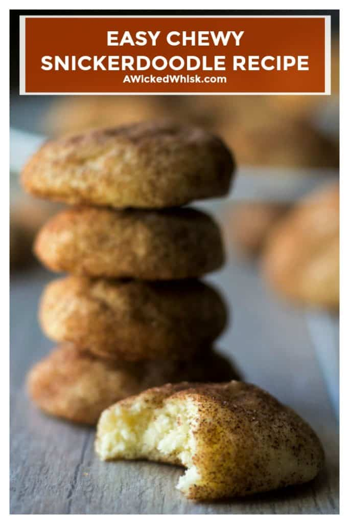 This Chewy Snickerdoodle Recipe will be the best easy snickerdoodle cookies you will ever make. Soft, chewy and rich with cinnamon flavor, this Chewy Snickerdoodle Recipe will have everyone begging for more. #snickerdoodle #easysnickerdoodle #chewysnickerdoodles #chewsnickerdoodlerecipe #easysnickerdoodlerecipe #softsnickerdoodlecookies #christmascookies #easyholidaycookies #cinnamoncookies #easychristmascookierecipe