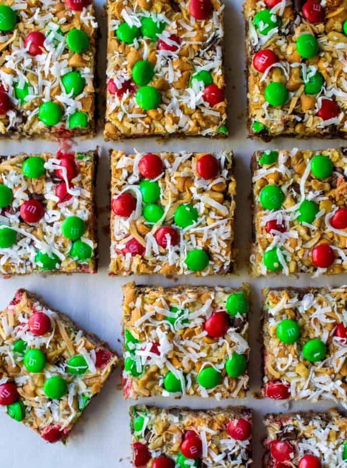 christmas seven layer magic bars