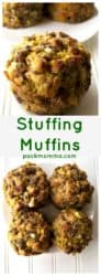 Stuffing Muffins | Stuffing Muffins are a fun twist on a classic holiday dish. Liven up your holiday dinner table with this new way to serve your favorite stuffing recipe. | A Wicked Whisk| https://www.awickedwhisk.com