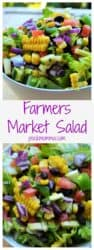 Farmers Market Salad | Farmers Market Salad is a simple healthy vegetable salad that's fun, delicious and too pretty not to enjoy. The perfect healthy choice to brighten any meal. | A Wicked Whisk | www.awickedwhisk.com